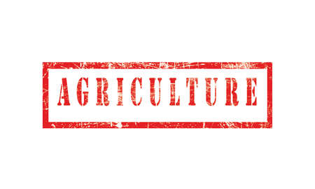 Agriculture, grunge rubber stamp isolated on white background, grunge text rubber stamp, grunge rubber stamp background Concept Design Archivio Fotografico