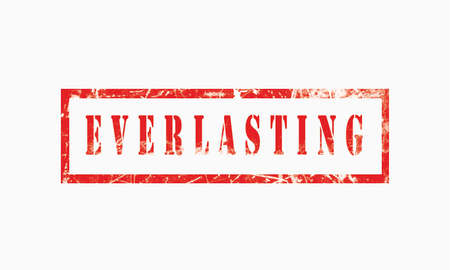 Everlasting, grunge rubber stamp isolated on white background, grunge text rubber stamp, grunge rubber stamp background Concept Design 版權商用圖片