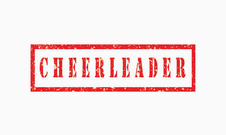 Cheerleader, grunge rubber stamp isolated on white background, grunge text rubber stamp, grunge rubber stamp background Concept Design 版權商用圖片