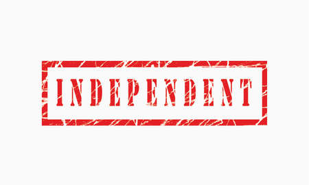 Independant, grunge rubber stamp isolated on white background, grunge text rubber stamp, grunge rubber stamp background Concept Design Archivio Fotografico