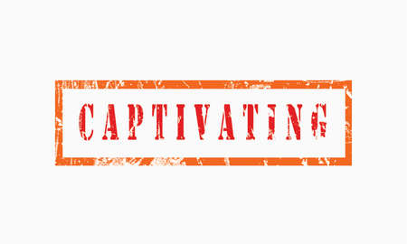 Captivation, grunge rubber stamp isolated on white background, grunge text rubber stamp, grunge rubber stamp background Concept Design Stockfoto