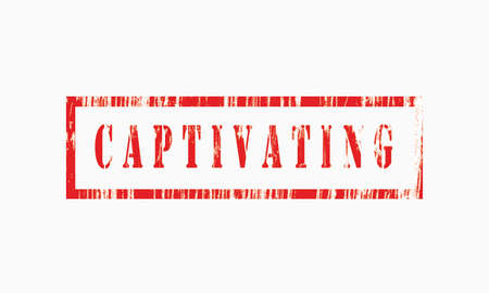 Captivation, grunge rubber stamp isolated on white background, grunge text rubber stamp, grunge rubber stamp background Concept Design Archivio Fotografico
