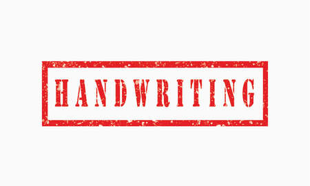 handwriting grunge rubber stamp isolated on white background, grunge text rubber stamp, grunge rubber stamp background Concept Design Archivio Fotografico