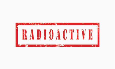 radioactive grunge rubber stamp isolated on white background, grunge text rubber stamp, grunge rubber stamp background Concept Design