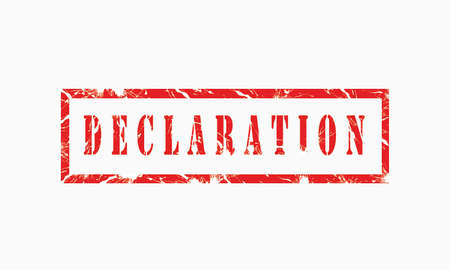 declaration, grunge rubber stamp isolated on white background, grunge text rubber stamp, grunge rubber stamp background Concept Design