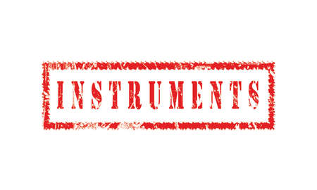 instruments, grunge rubber stamp isolated on white background, grunge text rubber stamp, grunge rubber stamp background Concept Design