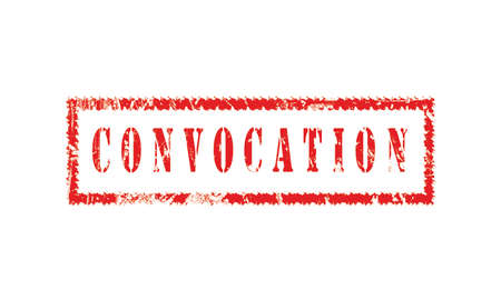 convocation, grunge rubber stamp isolated on white background, grunge text rubber stamp, grunge rubber stamp background Concept Design