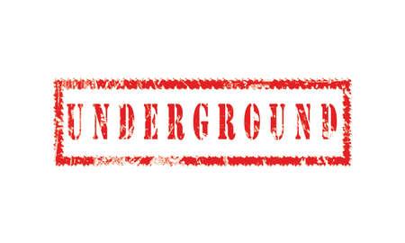 underground, grunge rubber stamp isolated on white background, grunge text rubber stamp, grunge rubber stamp background Concept Design