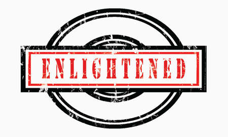 enlightened, grunge rubber stamp isolated on white background, grunge text rubber stamp, grunge rubber stamp background Concept Design