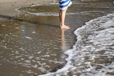 waters  edge: Paddling in the waters edge