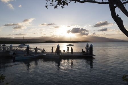 port douglas: sunset fishing, Port Douglas, Northern Queensland