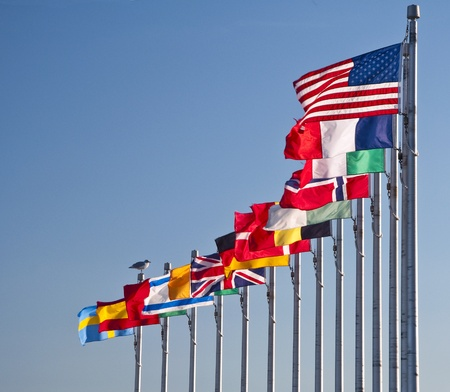 Flags of many nations Stock Photo - 11103644