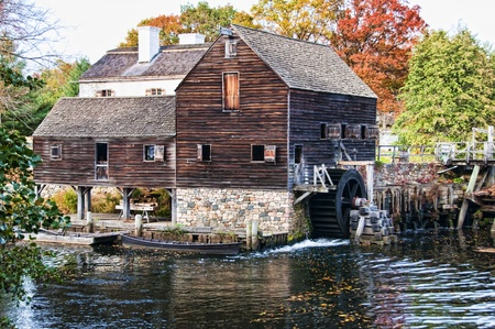 water wheel: An old grist mill in Sleepy Hollow