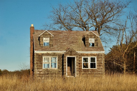 An abandoned house in total neglect