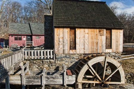An old vintage grist mill