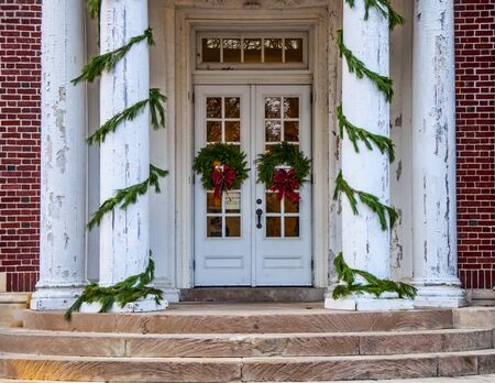 Museum doors decorated for the holidays Stock Photo - 17506886 & Museum Doors Decorated For The Holidays Stock Photo Picture And ... pezcame.com