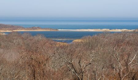 montauk: A view from the hill overlooking Oysterponds in Montauk