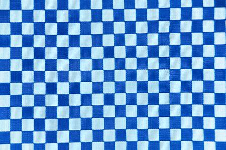 A light and dark blue checkerboard design