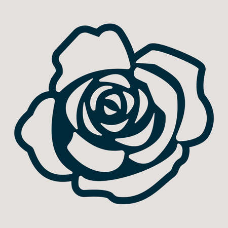 monochromic: A monochromic icon for the rose flower