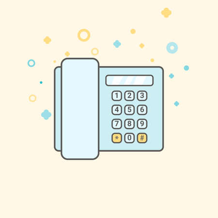 vintage telephone: Simple Business and Finance Vector Flat Icon. Classic telephone. Flat style icon. Illustration
