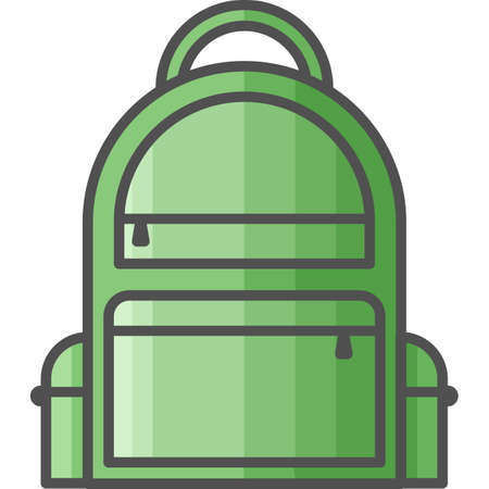 Simple art and hobby Vector Flat Icon. Bag for carring things. Flat style icon. 48x48 Pixel Perfect.