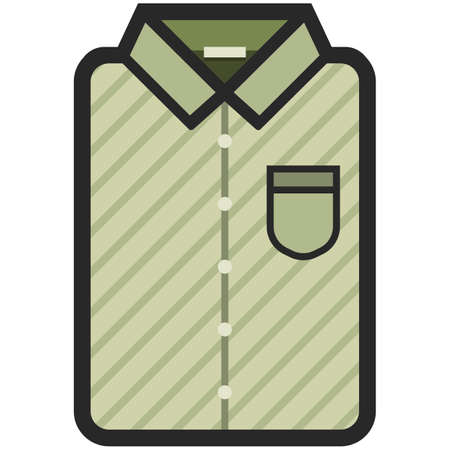 Vector Icon of a modern yellow shirt. Pixel perfect. Bussiness and office look. For shops and stores