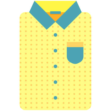 Vector Icon of a modern yellow shirt for women. Pixel perfect. Bussiness and office look. For shops and stores