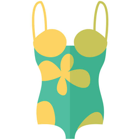Icon of a swimming suit for women in a flat style without line. Pixel perfect. Business and office look. For shops and stores