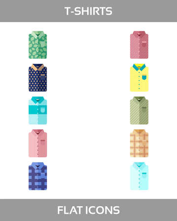 Simple Set of Clothes and shopping icons without outline.