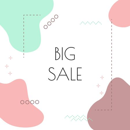 Modern advertising square web banner for mobile applications on social networks. Elegant sale and discount promotional background with abstract delicate pattern. Email newsletter ads layouts.