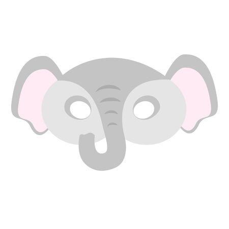 illustration of carnival mask animals africa elephant. Eye mask for masquerade, children's party. for design, postcards. vector Ilustrace