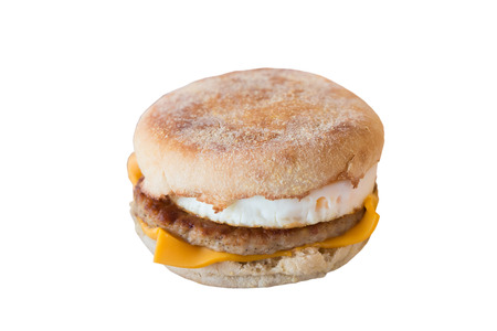 sunnyside: Fried sunnyside up egg on pork with a bagel and cheese