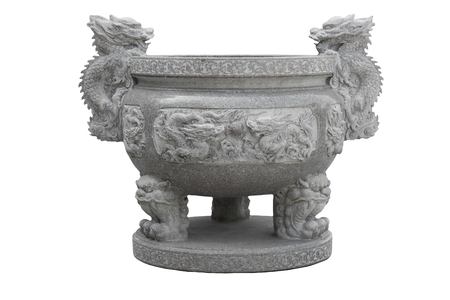 Ancient  Chinese incense burner isolated on white