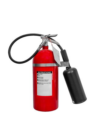 Carbon Dioxide (CO2) Fire extinguisher isolated on white background