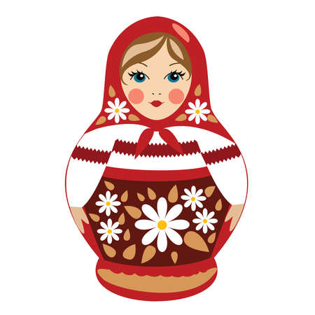 russian doll: Red Russian Doll with Details