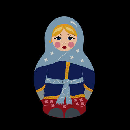 babushka: Babushka doll in winter clothes