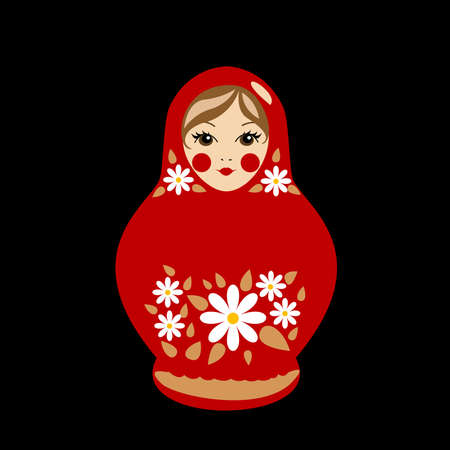 babushka: Babushka doll in summer clothes Illustration
