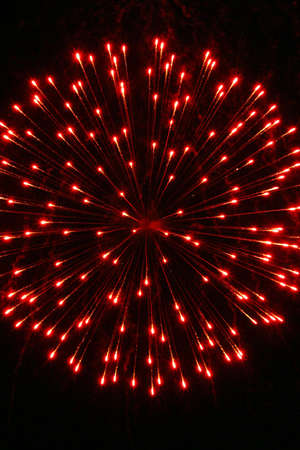 newyear night: Red firework