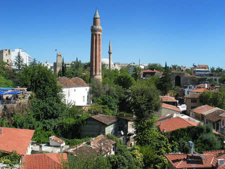 View of Antalya old town