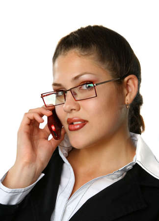 Beauty Business woman talking by phone Stock Photo - 1777290