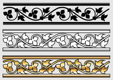 medieval scroll: Vicrtorian Style Design Scroll (Vector)
