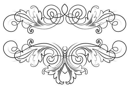 Caligraphic Script Ornament Elements