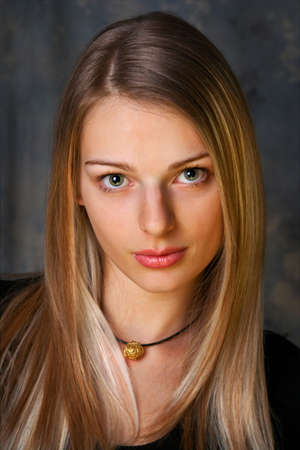 Beautiful Girl with long blond hair