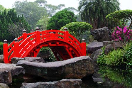 japanese bridge: Red Bridge