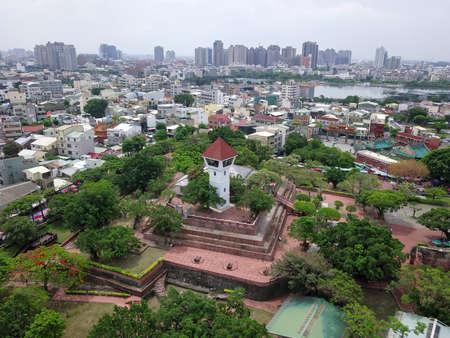 Aerial view of Fort Zeelandia, Tainan, Taiwan.