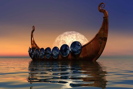 VIKING BOAT 2 Stock Photo - 4134204