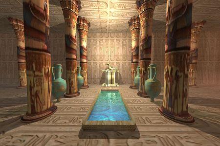 pyramide egypte: Temple �gyptien Banque d'images