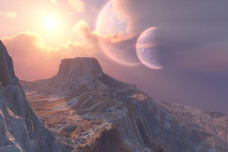 このひょっと惑星ダブル月システムを持っています。