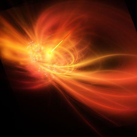 A supernova explosion causes a bright gamma ray burst. Stock fotó