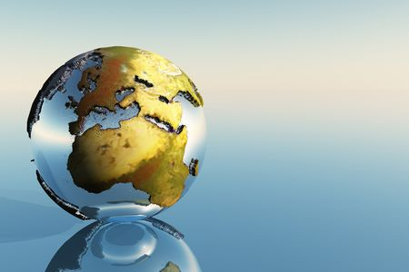 A world globe showing the continents of Europe, Middle East and Africa. Stock Photo - 5783471